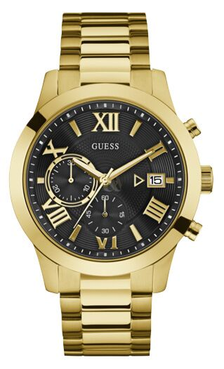 GUESS Gold Stainless Steel Chronograph W0668G8
