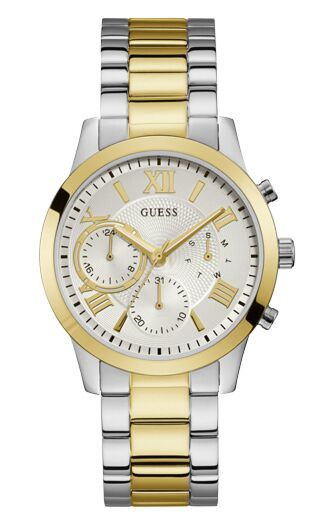 GUESS Crystals Multifunction Two Tone Stainless Steel W1070L8