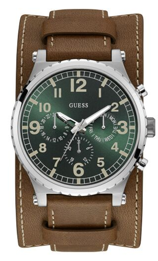 GUESS Multifunction Brown Leather Strap W1162G1