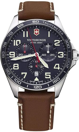 VICTORINOX Fieldforce Brown Leather Chronograph 241854