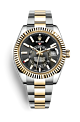 Rolex Sky-Dweller 42 OysterSteel & Yellow Gold 326933 Black Dial