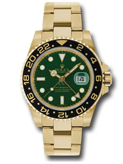 GMT-Master II, Yellow, Gold Green Dial, 116718LN