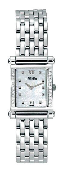 MICHEL HERBELIN Antares Diamond Stainless Steel Bracelet MH17049-22YB19